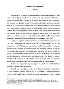 Dreptul de Retentie - Pagina 1