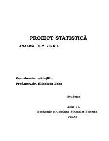 Analiza Statistica - Pagina 1