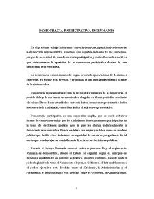 Democracia Participativa en Rumania - Pagina 1