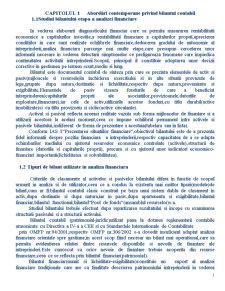 Bilant si Indicatori Bilantieri - Pagina 1