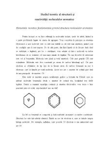 Studiul Teoretic al Structurii și Reactivității Moleculelor Aromatice - Pagina 1