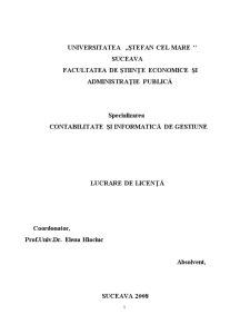 Contabilitatea Cheltuielilor, Veniturilor și Rezultatului Financiar în Regii Autonome pe Exemplul Ocolul Silvic Brodina - Pagina 1