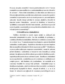 Definiția și Obiectul Identificării Criminalistice - Pagina 5