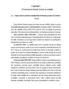 Studiul privind Derularea unui Credit pentru Persoane Juridice Acordat de Banca Romana pentru Dezvoltare GSG - Pagina 4