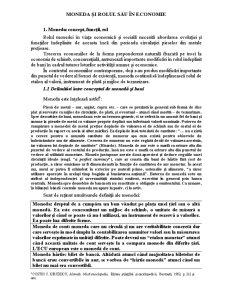 Moneda și Rolul sau în Economie - Pagina 1