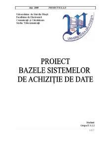 Sistem de Achizitie de Date care Achizitioneaza Doua Semnale Analogice cu Izolare Galvanica - Pagina 1