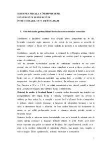 Gestiunea Fiscala a Intreprinderii - Convergente si Divergente intre Contabilitate si Fiscalitate - Pagina 1