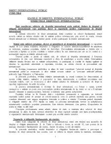 Drept International Public - Curs 6 - Pagina 1