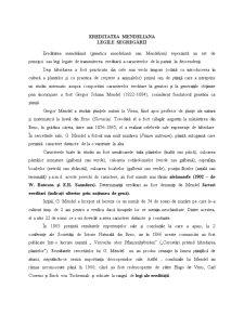 Ereditatea Mendeliana - Pagina 1