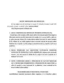 Ereditatea Mendeliana - Pagina 2