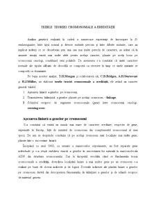 Tezele Teoriei Cromosomale a Eredității - Pagina 1