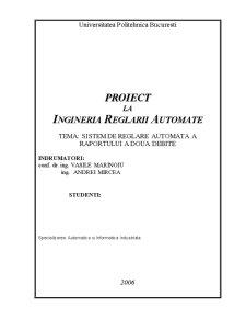 Sistem de Reglare Automata a Raportului a Doua Debite - Pagina 1