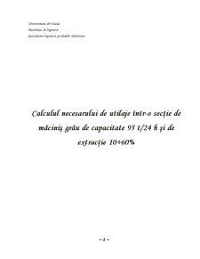 Calculul Necesarului de Utilaje într-o Secție de Măciniș Grâu - Pagina 2