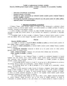 Dreptul la Libera Circulatie in UE - Pagina 1