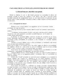 Riscuri in Activitatea Institutiilor de Credit - Pagina 1