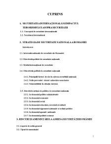 Riscuri si Amenintari la Adresa Romaniei - Contributia Romaniei la Lupta Impotriva Terorismului - Pagina 2