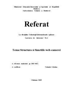 Structura si Functiile Web-Camerei - Pagina 1