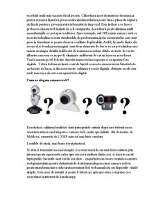 Structura si Functiile Web-Camerei - Pagina 3