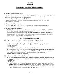 Curs Word - Pagina 2