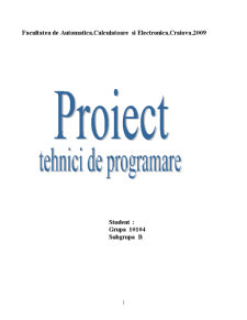 Tehnici de Programare - Pagina 1