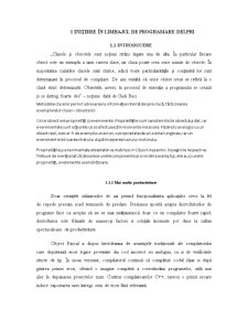 Inițiere în Limbajul de Programare Delphi - Pagina 1