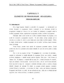 Capitolul 5 - Elemente de Programare - Realizarea Programelor - FoxPro - Pagina 1