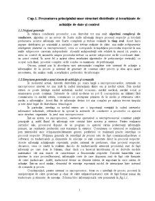 Prezentarea Principiului unor Structuri Distribuite și Ierarhizate de Achiziție de Date și Control - Pagina 1