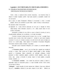 Documentarea în Cercetarea Științifică - Pagina 1
