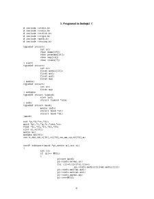 Baza de Date a unui Catalog Scolar Limbajul de Programare C - Pagina 4