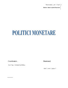 Analiza Politicii Rezervelor Bancare Minime Obligatorii in Diferite Tari - Pagina 1