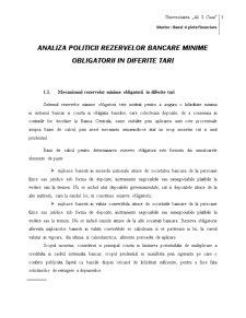 Analiza Politicii Rezervelor Bancare Minime Obligatorii in Diferite Tari - Pagina 3