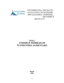 Enzimele Imobilizate în Industria Alimentară - Pagina 2