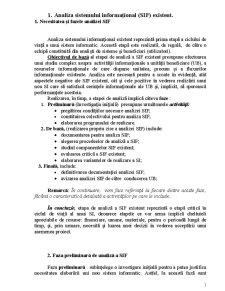 Analiza Sistemului Informațional Existent - Pagina 1