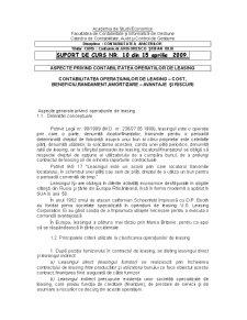 Aspecte privind Contabilitatea Operatiilor de Leasing - Pagina 1