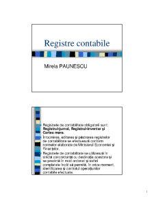 Registre Contabile - Pagina 1