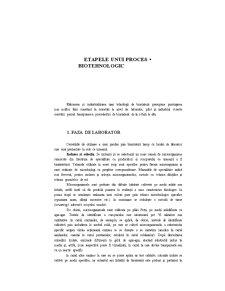 Etapele unui Proces Biotehnologic - Pagina 1