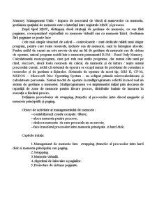 Gestiunea Memoriei Operaționale - Pagina 2