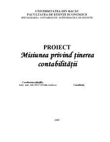 Misiunea privind Ținerea Contabilității - Pagina 1