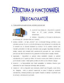 Structura si Functionarea unui Calculator - Pagina 1