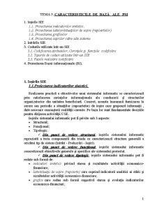 Caracteristicile de Bază ale PSI - Pagina 1