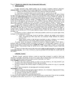Modele ale Ciclului de Viață al Sistemului Informatic - Pagina 1