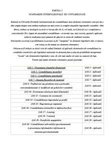 Standarde Internaționale de Contabilitate - Pagina 1