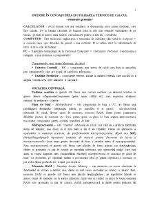 Bazele Tehnologiei Informatiei - Elemente Introductive - Pagina 1