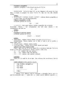 Limbajul HTML - Pagina 2