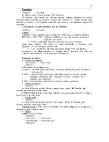 Limbajul HTML - Pagina 5