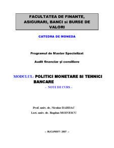 Reglementare și Supraveghere Bancară - Pagina 1