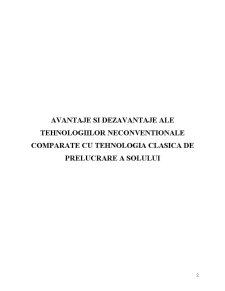 Avantaje si Dezavantaje ale Tehnologiilor Neconventionale Comparate cu Tehnologia Clasica de Prelucrare a Solului - Pagina 1