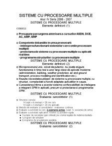 Sisteme cu Procesoare Multiple - Pagina 1