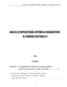 Analiza și Reproiectarea Sistemului Organizatoric al Primăriei Sectorului 2 - Pagina 1