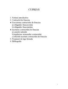 Executarea si Incetarea Contractului de Franciza a Dreptului de Proprietate Intelectuala - Pagina 1